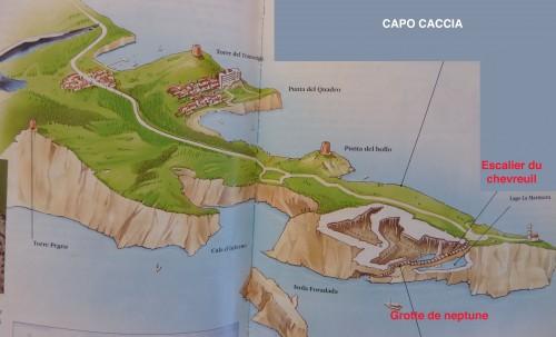 caredda,cau,sardaigne,sarde,capo caccia,calcaire,foradada,grotte de neptune,escalier du chevreuil,corail,tour,porto conte