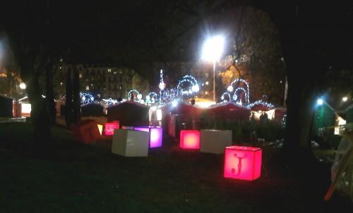 LYON,marché de Noël, hiver, fêtes,vire,lumière,