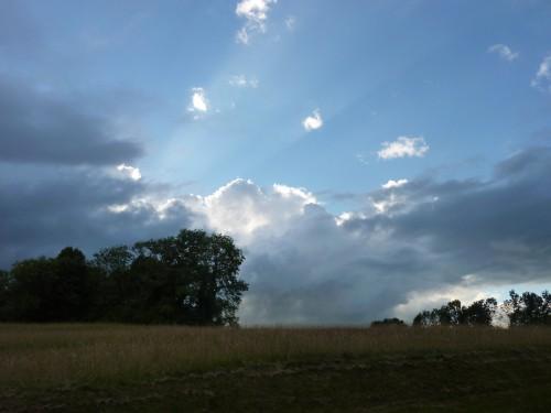 Viry, jura, ciel, orage, été, rogna,
