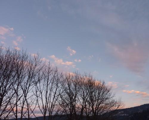 Viry,Jura,hiver,neige,ciel,tableau,