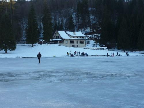 charix, patiner, Lac Genin, glace,