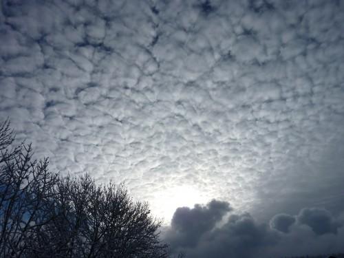 Jura, hiver, ciel, neige,vire, nuage