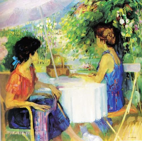 oyonnax, viry, cottet-emard,jardin, peintre, jura, viry,fleurs,