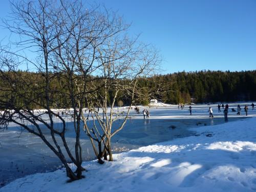 charix, hiver, lac Genin, auberge du lac Genin, glace, patiner,