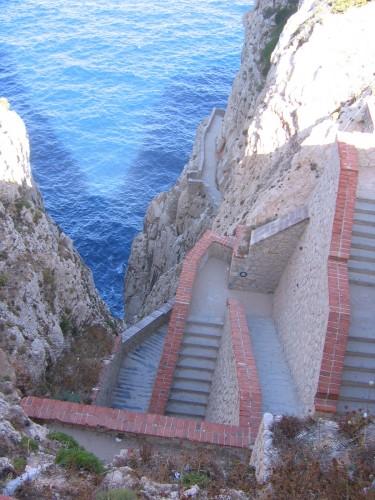 Caredda, Cau, Alghero, sardaigne, sarde, capo caccia, grotte de neptune, Foradada, escalier du Chevreuil,
