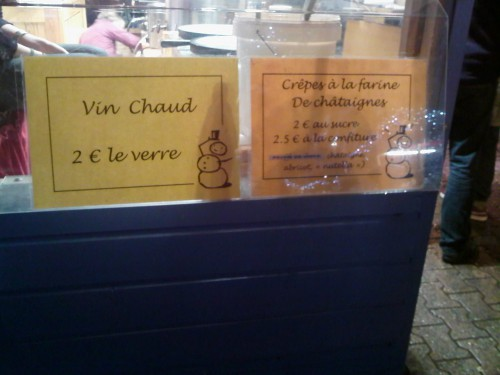 Lyon, viry, marché de Noël, hiver